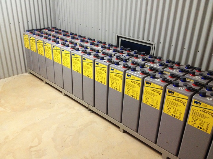 Banc de baterii de capacitate mare