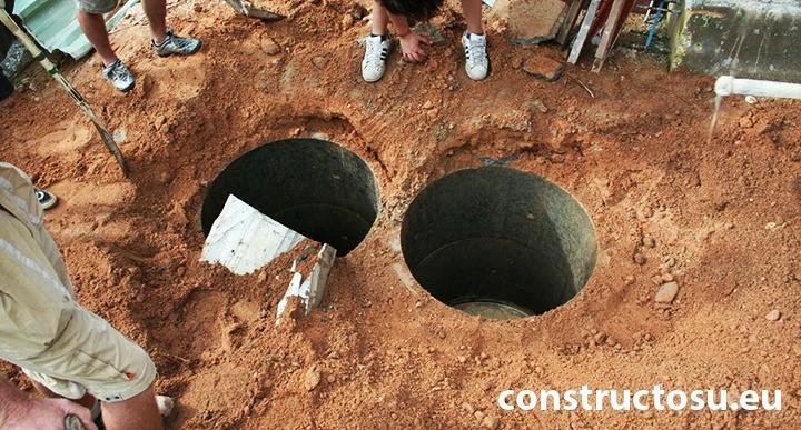Montaj două compartimente fosă septică