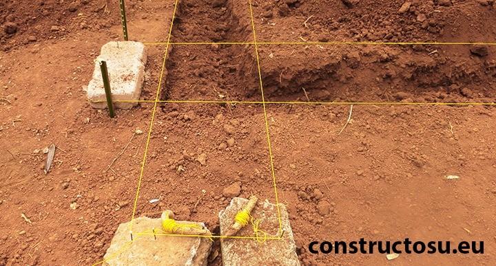 Marcare placa de beton cu sfoară-rigidă vizibilă