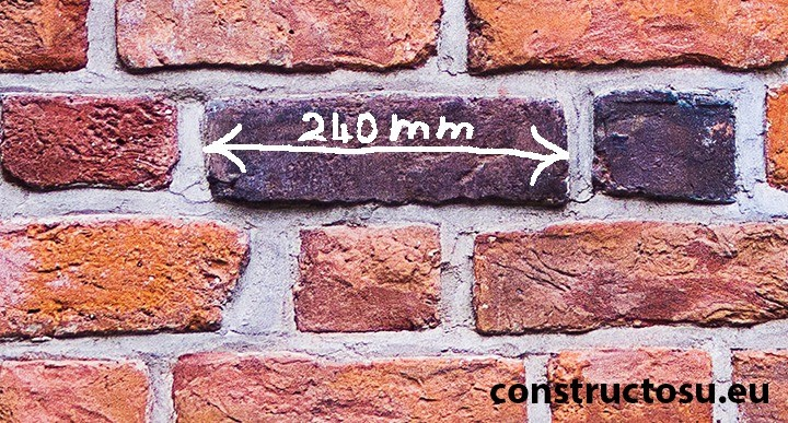 Care este lungimea unei cărămizi pline?