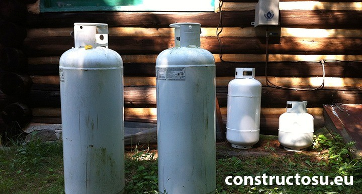 Butelie sau vas sub presiune utilizat pentru stocarea propanului