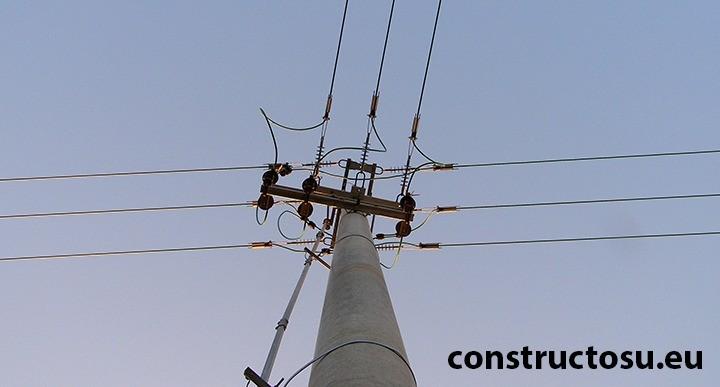 Stâlp din beton prefabricat centrifugat