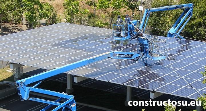 Loc de parcare auto cu panouri solare