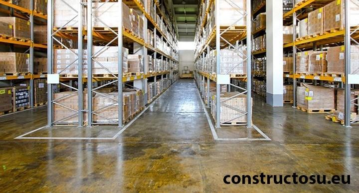Spații de depozitare anexate spațiilor de producție de dimensiuni mari