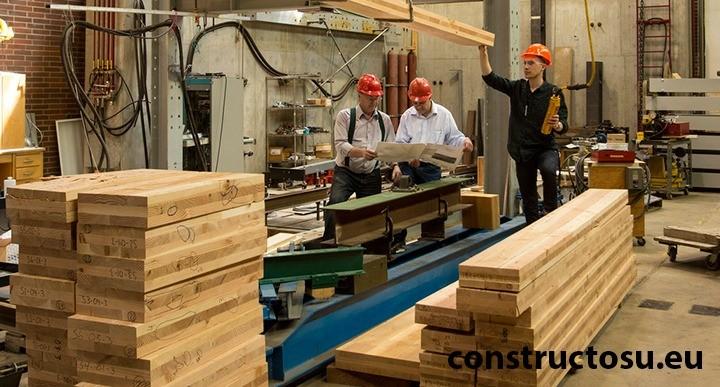Centru de testare a grinzilor din lemn lamelar încleiat