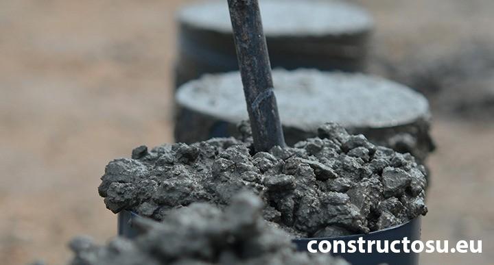 Mostre de testare a clasei de tasare la turnarea betonului
