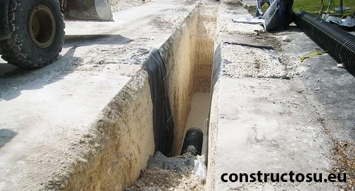 Sistem de drenaj amplasat sub asfalt